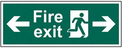 Fire Exit Running Man Arrow Left / Right
