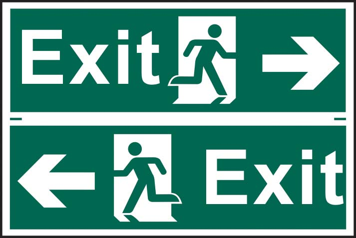 Exit Running Man Arrow Right / Left Sign