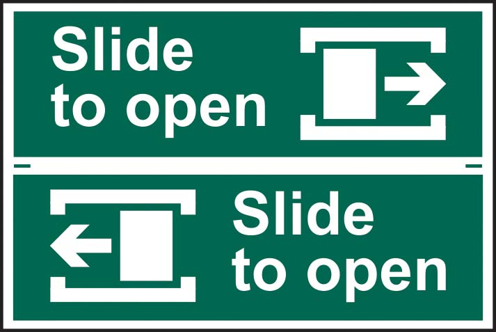 Slide To Open Arrow Right / Left
