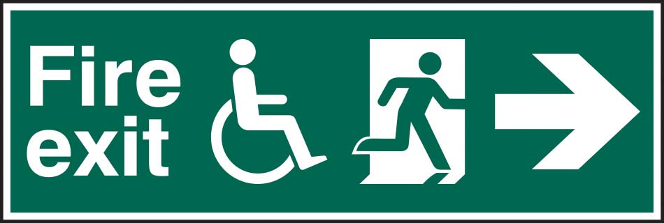 Disabled Fire Exit Running Man Right