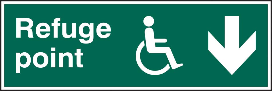 Refuge Point Arrow Down